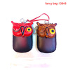 Genuine leather animal shape mobile phone arm bag
