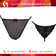 Hot sale comfortable belt cotton thong for mature