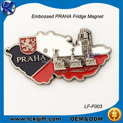 2015 Popular custom Czech republic souvenirs fridge magnet 3d