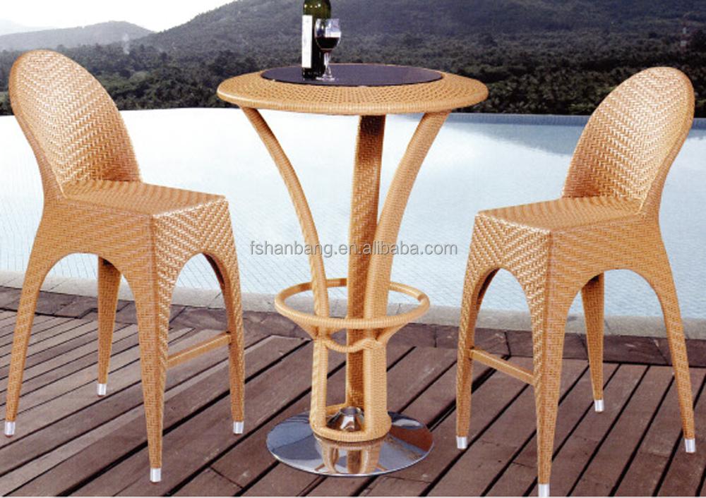 bambu luar kontra tiki meja bar kursi bangku set bambu furni