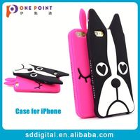 Soft animal cute silicone phone case for iphone 6 plus