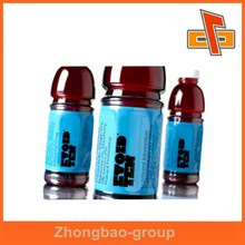 PVC heat shrink plastic bottle label with customized design and logo printing