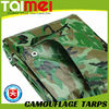 90gsm~280gsm PE Camouflage Tarpaulin Cover for Camping Tent