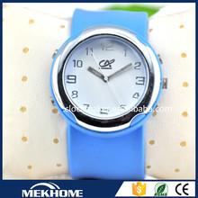 Big silicone slap ladies watch/slap silicone watch