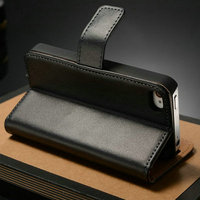Best Quality Side Open PU Leather Flip for Iphone 4S Mobile Phone Case