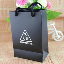 good quality cheap custom printed shopping paper bag with handles wholesale