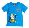 T-shirt Children's clothing wholesale Pure cotton short sleeve blue color monkey at work printed hot sale t-shirts