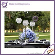 K3485 Tall Crystal Candle Holder Acrylic Crystal Table Candlesticks Wedding Centerpiece