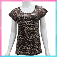 Bespoke women t-shirt with leopard printed