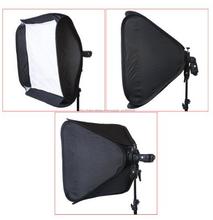 Ritratto o fotografia del prodotto 80*80cm con flash adattatore tessuto softbox studio kit di illuminazione