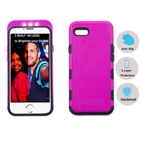 cell phone case with three led lights illuminate Self for iphone 6 case or 6+