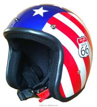 motorcycle helmets open face helmet retro gloss UV curable fit with visor