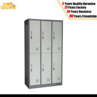 powder coated six door metal locker/six compartment steel clothes locker/ office hotel hospital military furniture