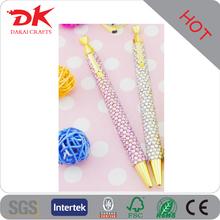 Wholesale acrylic sticker decorating beaded pen with rhinestone