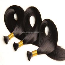 Best Prices Mink Silver Grey Bulk Remy Hair Unwefted Bulk Virgin Hair For Braiding