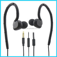 unique design headphones sport earphone Hooks with microphone for mobile phone