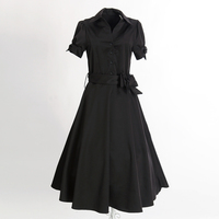online boutique wholesale drop shipping black cocktail dresses with sleeves