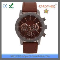 FS FLOWER - Engrave Case Chronograph Sport Watches Japan Movt Water Resistant Stainless Steel Back Water Resistant 10 Bar
