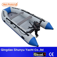 14ft CE certificate korea 1.2mm pvc material outboard motor inflatable boat for sale