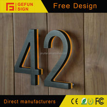 Painted Stainless Steel Reverse Channel Illuminous House Numbers
