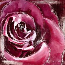 Handmade rose flower oil painting on canvas