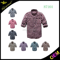 Wholesale 100% cotton flannel shirts long sleeve shirts with cheap price for men