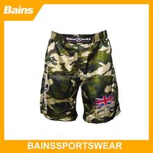 camouflage sublimated mma shorts&custom grappling mma shorts&fabric shorts mma