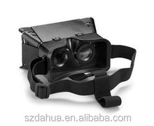 2015 New Listed Plastic Black 3D Google Cardboard Vr Virtual Realiry Headset