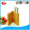 Magnetic kitchen bamboo pocket knife holder
