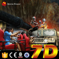 high end exciting gun shooting 7d cinema 9d theater simulator machine