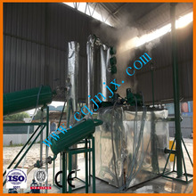 JNC black engine oil distillation diesel equipment/used oil to diesel oil recycling machine/oil purification