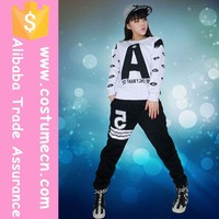 wholesale fashion 2016 new sexy popular hip-hop singer jazz costumes for girls long sleeved jazz dance hip hop clothing china