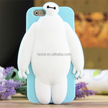 Protective case cover for iPhone 6 shell case white baymax 3d silicone case
