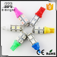 New product 2015 new hottest sale T10 9SMD 5050 12V 24V super canbus Car W5W T10 led