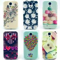 For Samsung GALAXY S4 i9500 i9505 s 5 6 note 3 4 5 Luxury Quality PINK Flower Owl Design TPU IMD Tower Back Silicone Phone Case