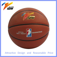 Promotional college basketball with standard size