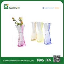 2015 new plastic vase plastic flower vase plastic foldable vase