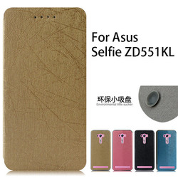 2015 new design flip leather cover case for Asus selfie ZD551KL with holder