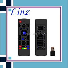 Best quality 2015 NEW 2.4GHz keyboard mini fly air gyro mouse wireless keyboard With IR Remote Control for Smart TV IPTV Android