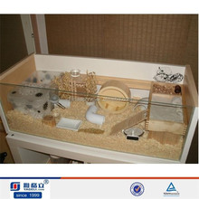 Costom figure high transparent acrylic display case/acrylic hamster cage/acrylic pet cage