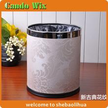 Popular double layer dustbin OEM 3~5 star hotel dustbin