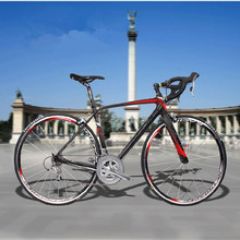 Red Color Carbon Bicycle OEM Service Road Bike With Sportswear Cycling Wear