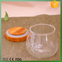 Transparent Sealed Glass Vacuum Storage bottle with bamboo lid