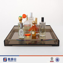 2015 Manufacturers Custom Made Acrylic Serving Tray for Hotel and Restaurant/ Acrylic Perfume Bottle Display Stand