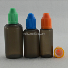 15ml liquid nicotine/ transparent PET smoke oil bottle