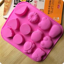 Multiple Cavity Animal Shaped Silicone Molds for Homemade Handmade Cake animal shaped mold