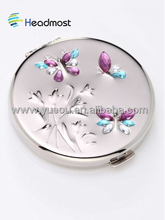 wall mirror with shutters Fashion plastic pocket makeup mirror/flower shaped mirrors