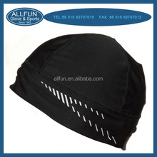 2015 fashion design reflective printing sports running beanie hat