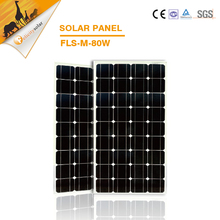 High efficiency 80W monocrytalline silicon panels solar module solar system cell factory price