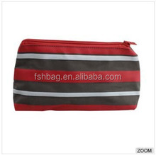 colorful strip printing triangle bag oxford school pen pouch/pencil case